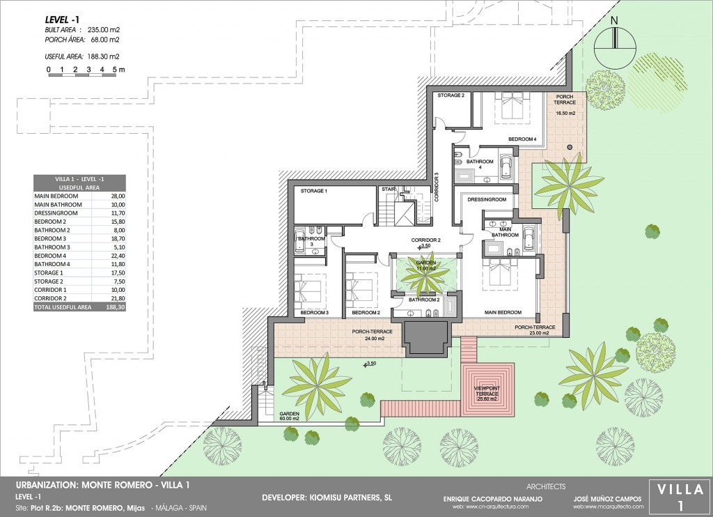 Villa 1 monteromero f cil seguro confortable for Villas que fundo nuno de guzman
